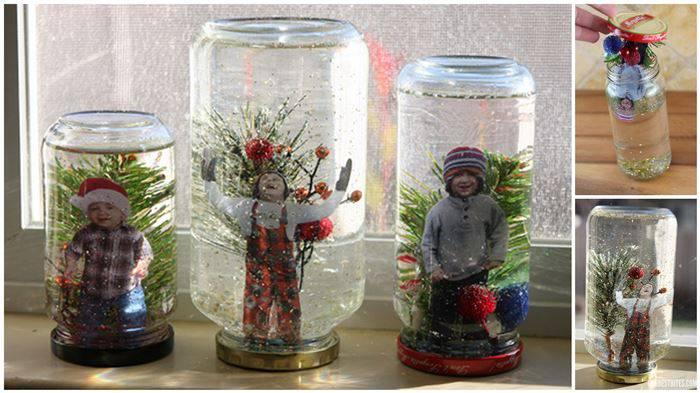 Шар новогодний со снегом своими руками