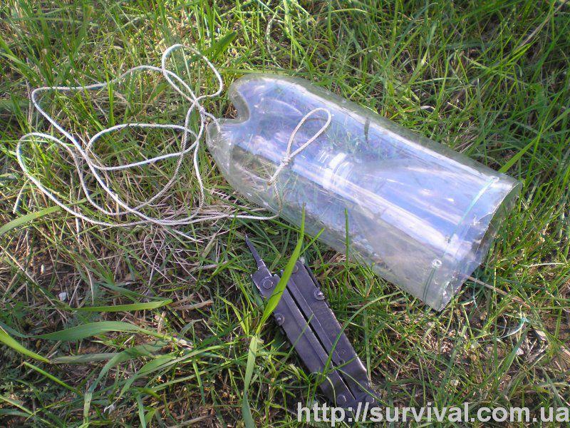 Ловушка из бутылки для рыбы