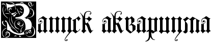 запуск аквариума надпись