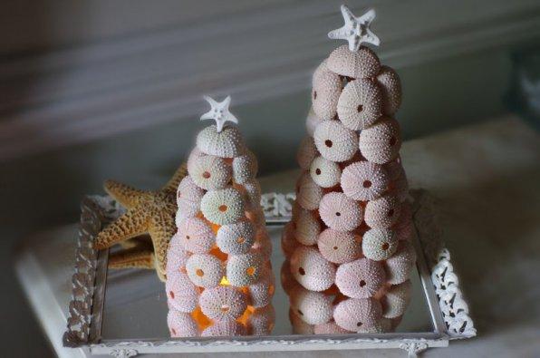 Новогодние украшения из ракушек!