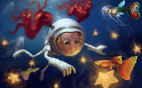 Рыбки в космосе