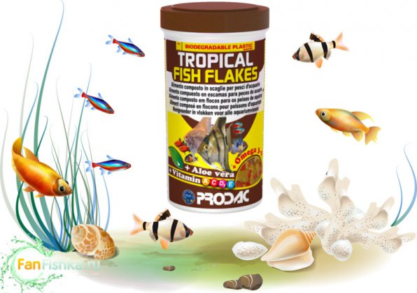 Корм для рыб PRODAC TROPICAL FISH FLAKES