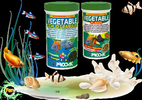 Растительные корма для рыбок