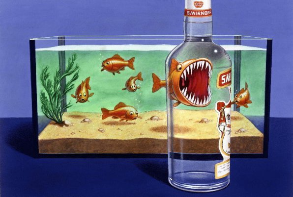 Водка в аквариуме