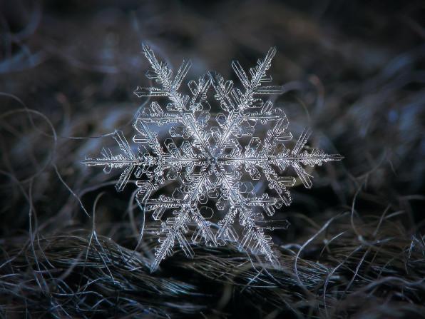 Фрактальность снежинки